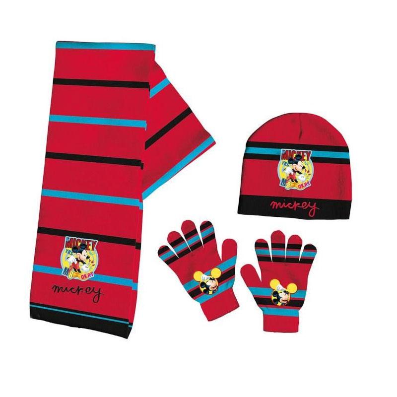 zapatos deportivos 10890 83343 Set gorro bufanda guantes Mickey Mouse Disney
